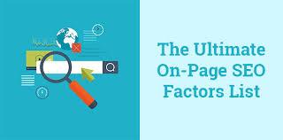 网页因素 – On-Page Factors