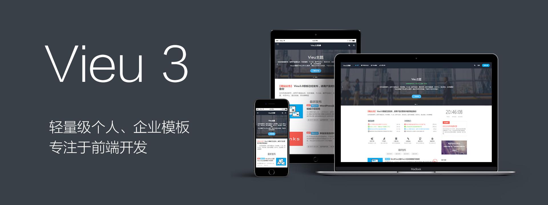 WordPress主题本站自用vieu主题介绍购买(V4增加付费下载功能)