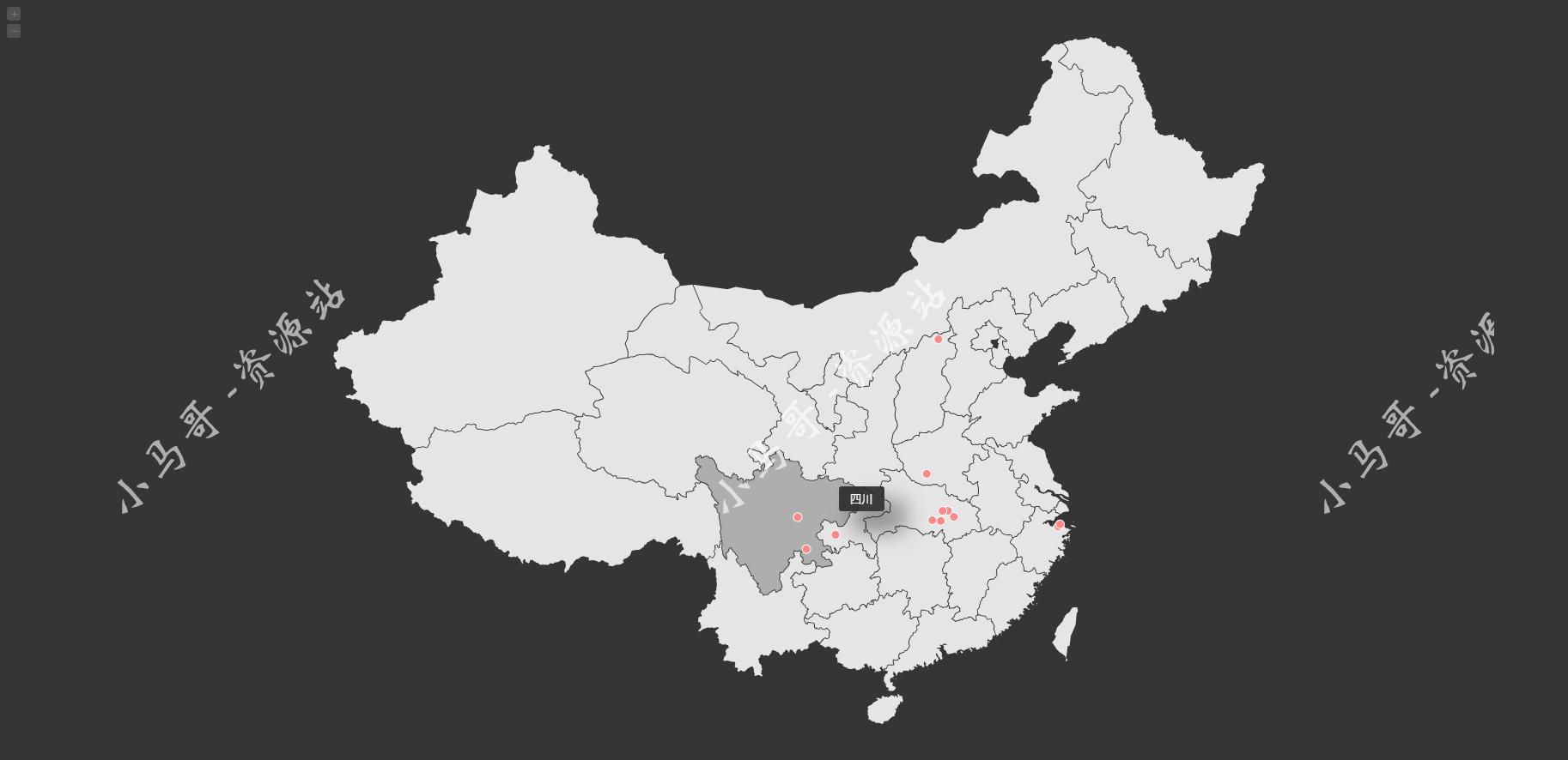 仿翁天信旅行足迹地图源码